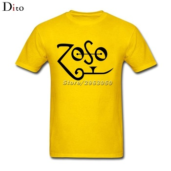Led zeppelin zoso jimmy page logo t-shirt männer e design ...