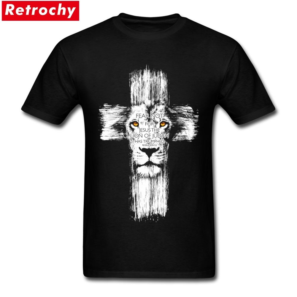 Coole lion of judah jesus T-shirt Männer Lustige Kreuz Lion T ...