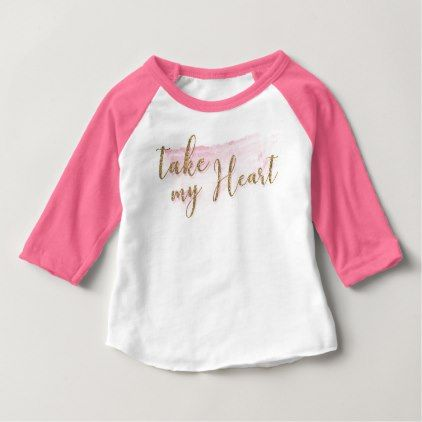 Watercolor Valentine Baseball Style Shirt | Valentine